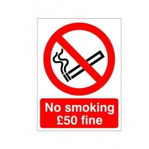 No Smoking £50 Fine - Health and Safety Sign (PRS.22)