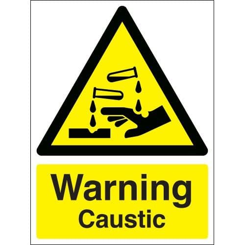 Warning Caustic - Health and Safety Sign (WAG.97)