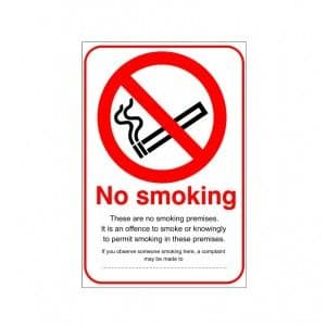 No Smoking - Health and Safety Sign (PRS.25)