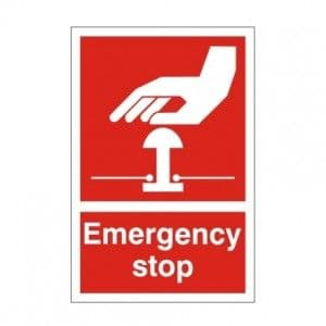 Emergency Stop (Red) - Health and Safety Sign (FA.21)