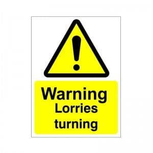 Warning Lorries Turning - Health and Safety Sign (WAC.31)