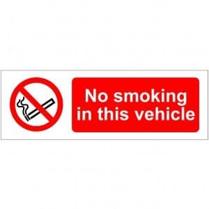 No Smoking In This Vehicle - Health and Safety Sign (PRS.88)