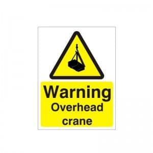 Warning Overhead Crane - Health and Safety Sign (WAC.44)
