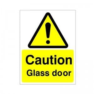 Caution Glass Door - Health and Safety Sign (WAG.53)