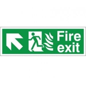 Fire Exit - Up / Right Arrow - Healthcare Establishment Health and Safety Sign (HM.08)