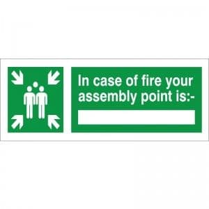 In Case Of Fire Your Assembly Point - Health and Safety Sign (FE.09)