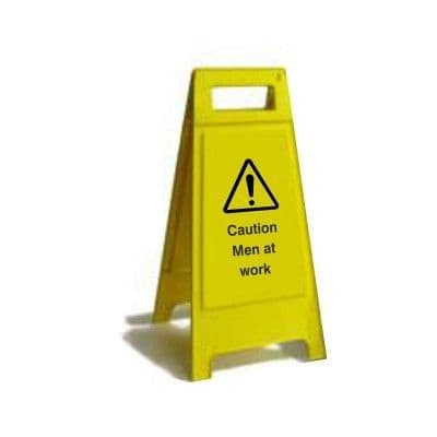Caution Men At Work Free Standing Sign (FS3.16)