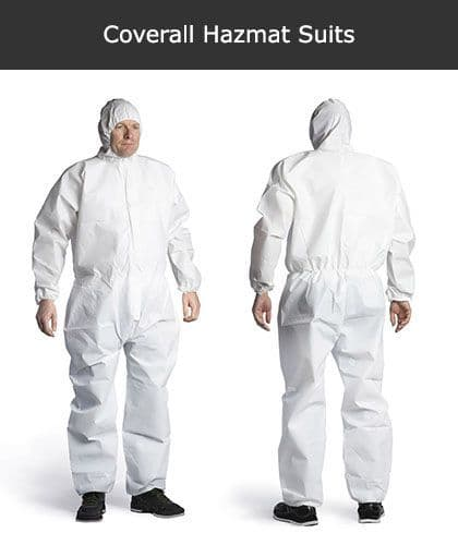 Coverall Hazmat Suits - XL Only | Safety Services Direct