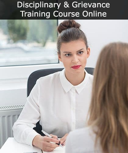Disciplinary and Grievance Training: Online Course at SSD