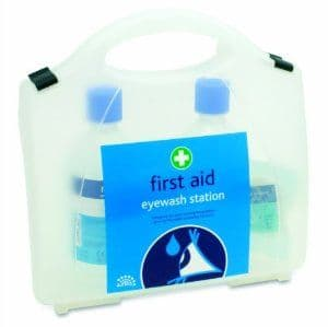 Double Eye Wash First Aid Kit