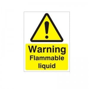 Warning Flammable Liquid - Health and Safety Sign (WAG.58)