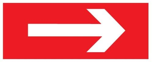 Right Arrow - Red - Fire Safety Health and Safety Sign (FEX.23)