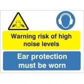 Warning Risk Of High Level Noise - Health and Safety Sign (MUL.46)