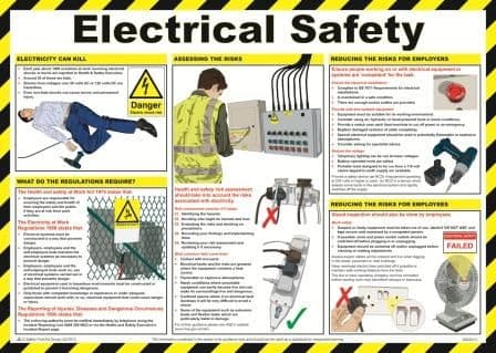 Electrical Safety Poster | Safety Services Direct
