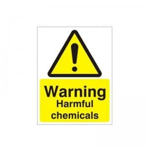 Warning Harmful Chemicals - Health and Safety Sign (WAG.104)