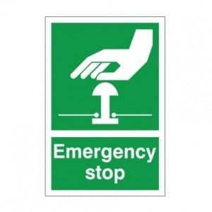 Emergency Stop - Health and Safety Sign (FA.18)