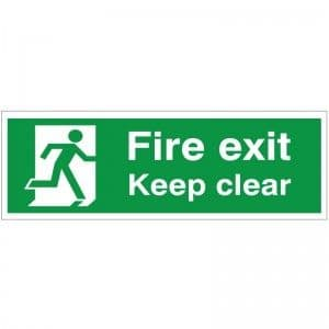 Fire Exit Keep Clear - Health and Safety Sign (FEG.36)