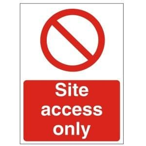 Site Access Only - Health and Safety Sign (PRC.14)