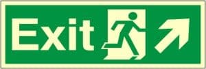 Exit Arrow Up Right - Fire Safety Sign (EX.37)