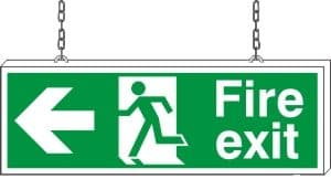 Fire Exit Left Arrow - Fire Safety Sign (FE.03)