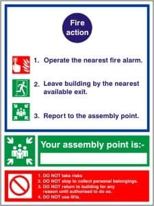 Fire Action - Fire Point - Fire Health and Safety Sign (ACT.06)