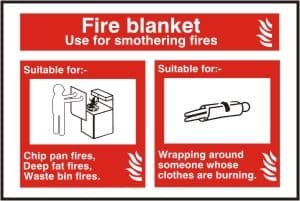 Fire Blanket Sign - Health & Safety Sign (FIW.18)