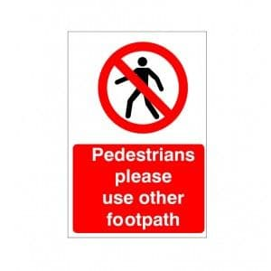 Pedestrians Please Use Other Footpath - Health and Safety Sign (PRC.04)