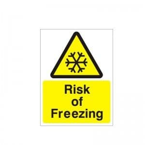 Risk Of Freezing - Health and Safety Sign (WAG.71)