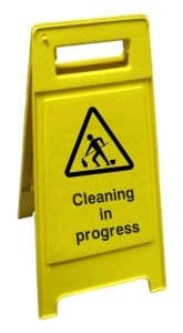 Caution Cleaning In Progress - Health and Safety Sign (FS3.03)