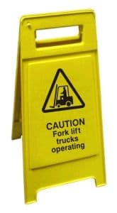 Caution Fork lift trucks operating - Health and Safety Sign (FS3.04)