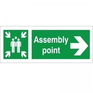 Assembly Point - Right Arrow - Health and Safety Sign (FE.33)