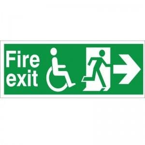 Fire Exit - Refuge - Right Arrow - Health and Safety Sign (FER.01)