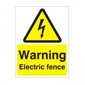Warning Electric Fence - Health and Safety Sign (WAE.25)