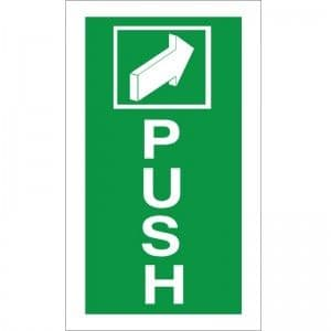 Push -  Fire Exit Health and Safety Sign (FED.01)