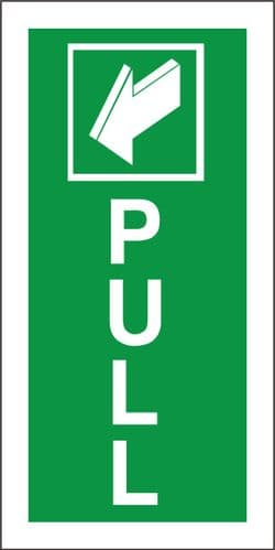 Pull - Fire Exit Health and Safety Sign (FED.02)