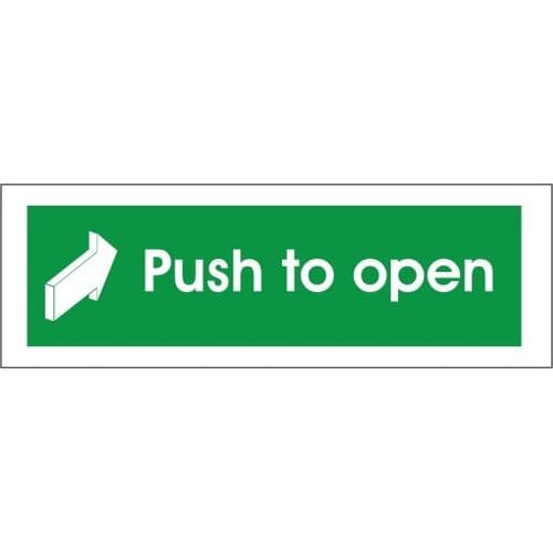 Push To Open - Fire Exit Health and Safety Sign (FED.09)