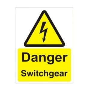 Danger Switchgear - Health and Safety Sign (WAE.38)