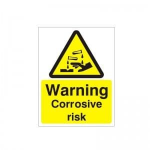 Warning Corrosive Risk - Health and Safety Sign (WAG.99)
