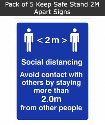Keep 2m Apart Social Distancing Sign | SSD