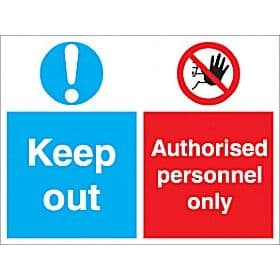Authorised Personnel Only Keep Out - Health and Safety Sign (MUL.52)
