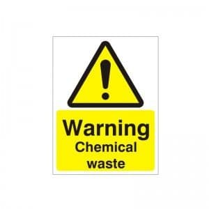 Warning Chemical Waste - Health and Safety Sign - SSD