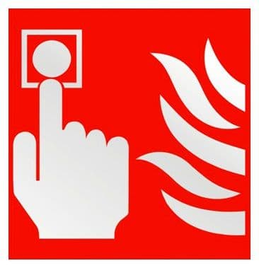 Fire Alarm Call Point Photoluminescent 100mm x 100mm- Health and Safety Sign (PP66G)