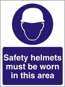 Safety Helmets Must be Worn in this Area - Health and Safety Sign (MAP.01)