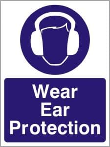 Wear Ear Protection - Health and Safety Sign (MAP.14)