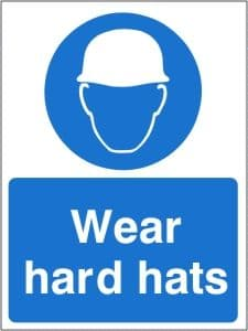 Wear Hard Hats - Health and Safety Sign (MAP.33)