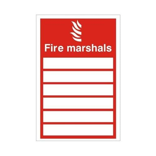 Fire Marshals - Health and Safety Sign (FEX.22)