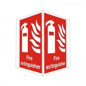 Fire Extinguisher - Projecting Health and Safety Sign (PRO.02)