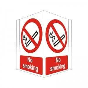 No Smoking - Projecting - Health and Safety Sign (PRO.21)  - This sign is designed to be wall mountable and projecting so that clear messages can be seen more easily. Just £3.47!