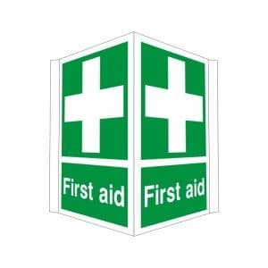 First Aid - Projecting Health and Safety Sign (PRO.31)