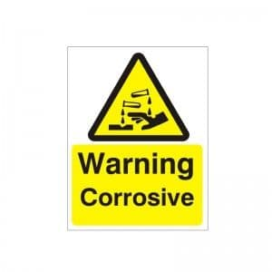 Warning Corrosive - Health and Safety Sign (WAG.22)